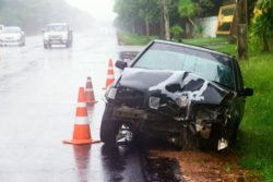 Car Accident in the Rain
