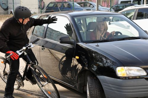 frustrated bicyclist