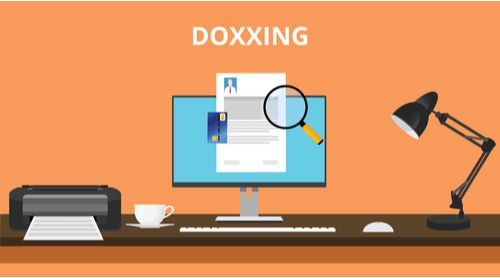 doxxing graphic